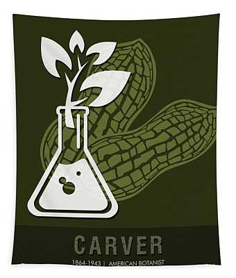 Science Posters - George Washington Carver - Botanist Tapestry
