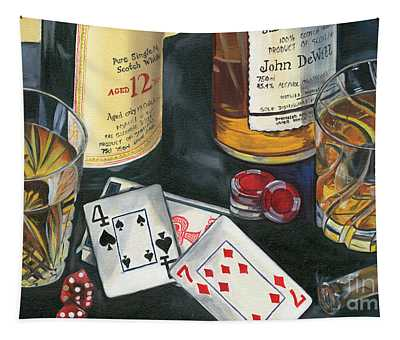 Scotch Cigars And Cards Tapestry