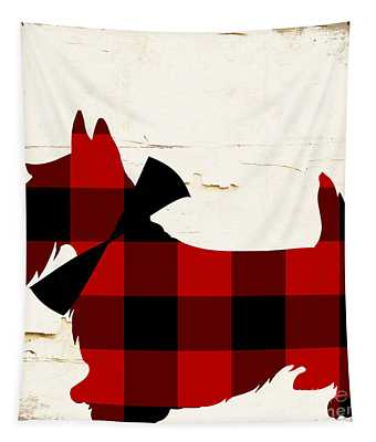 Scottish Terrier Tartan Plaid Tapestry