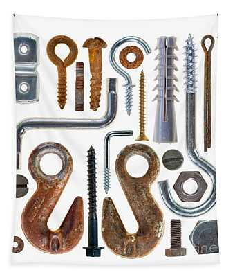 Screws, Nut Bolts, Nails And Hooks Tapestry