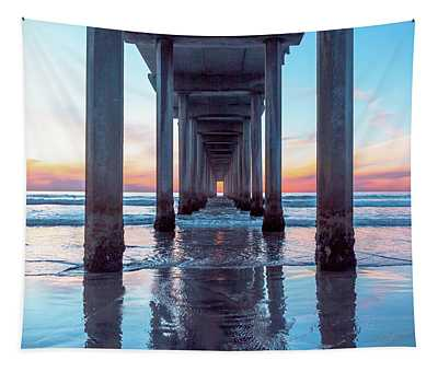Scripps At Sunset Tapestry