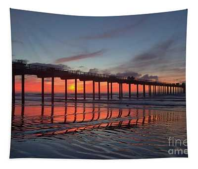 Scripps Pier Sunset 1 Tapestry