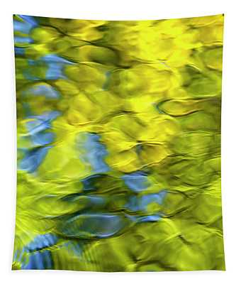 Sea Breeze Mosaic Abstract Tapestry