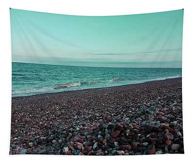 Sea Escape In Teal Green Tapestry