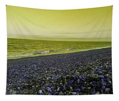 Sea Escape In Yellow Green Tapestry