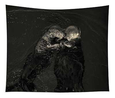 Sea Otters II Toned Tapestry by David Gordon