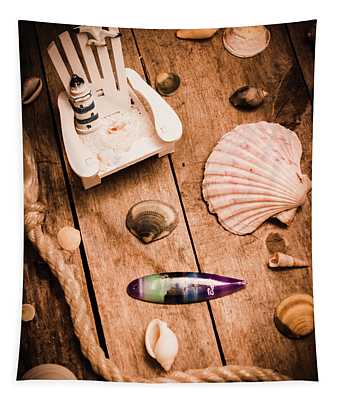 Sea Shell Decking Tapestry