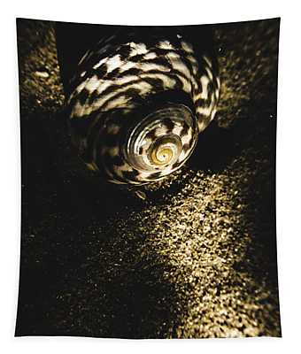 Sea Shell In Darkness Tapestry