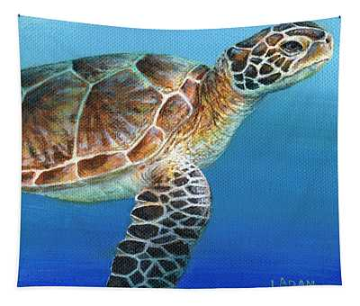 Sea Turtle 2 Of 3 Tapestry
