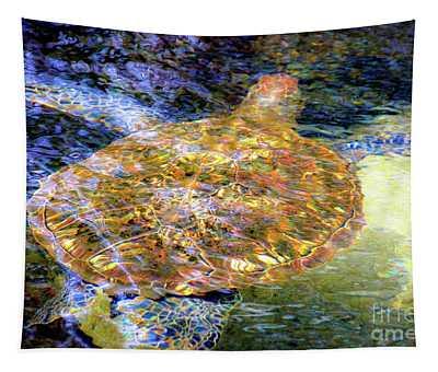 Sea Turtle In Hawaii Tapestry