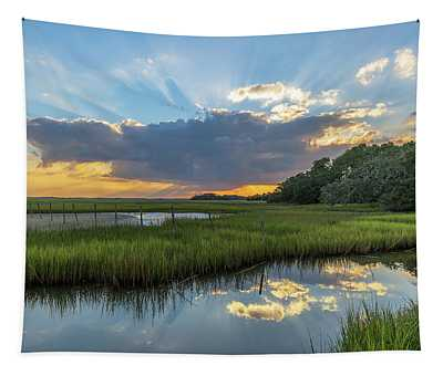 Seabrook Island Sunrays Tapestry