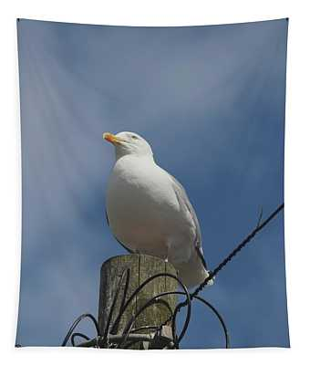 Seagull Perching. Tapestry