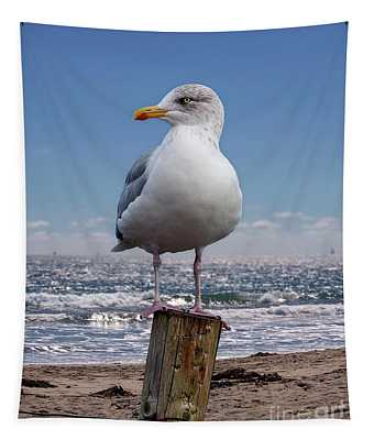 Seagull On The Shoreline Tapestry