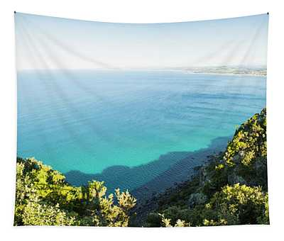Seas Of Turquoise Blue Tapestry