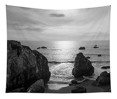 Seascape Jenner California IIi Bw Tapestry