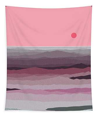 Seascape Pinks Tapestry