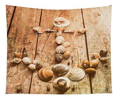 Seashell Nautical Anchor Tapestry
