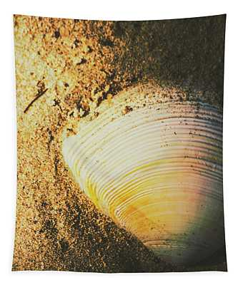 Seashells And Beach Colours Tapestry