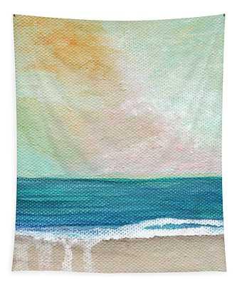 Seaside Sunset- Expressionist Landscape Tapestry