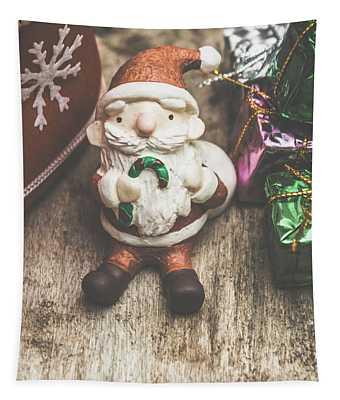 Seasons Greeting Santa Tapestry