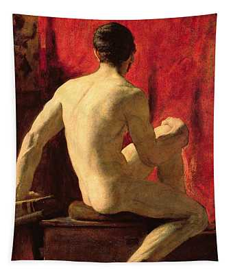 Seated Male Model Tapestry