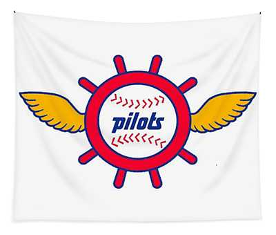 Seattle Pilots Retro Logo Tapestry