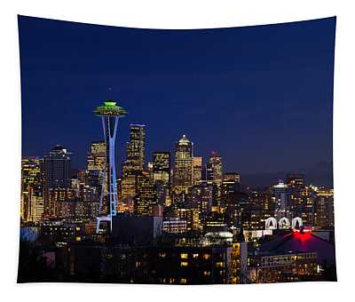 Seattle Seahawks Space Needle Tapestry