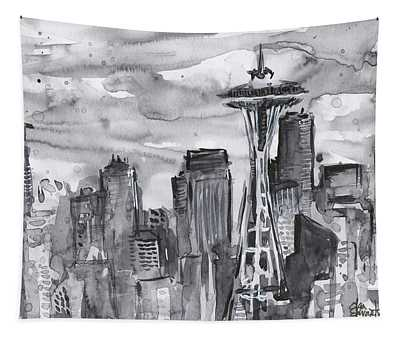 Seattle Skyline Space Needle Tapestry