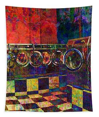 Secret Life Of Laundromats Tapestry