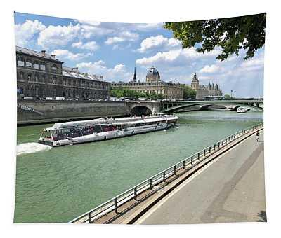 River Seine In Paris Tapestry
