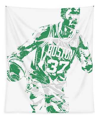 Semi Ojeleye Boston Celtics Pixel Art 2 Tapestry