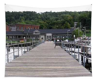 Seneca Lake Pier Watkins Glen New York Tapestry