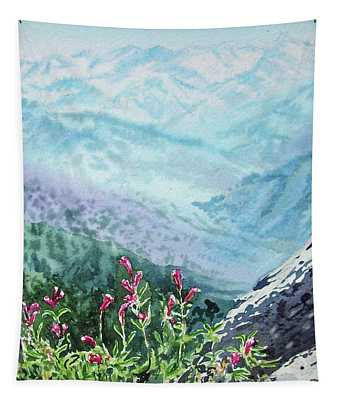 Sequoia Mountains Tapestry