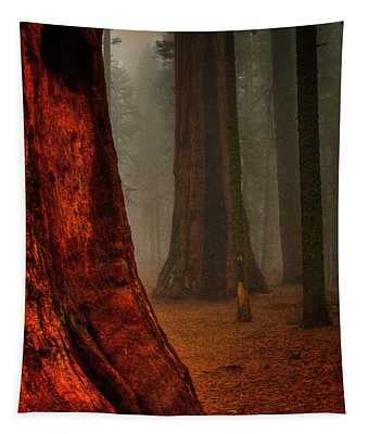 Sequoias In The Clouds Tapestry