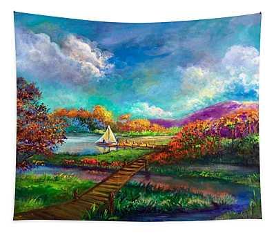 Serenely Sailing/navegando Serenamente Tapestry