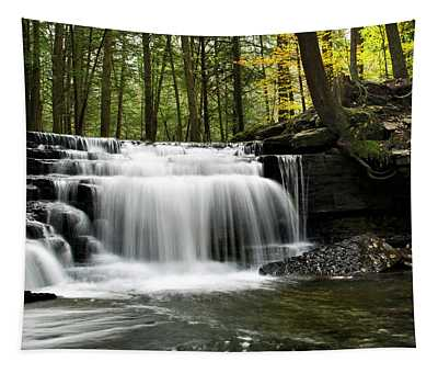 Tapestry featuring the photograph Serenity Waterfalls Landscape by Christina Rollo