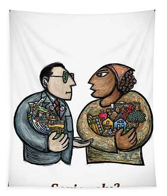 Seriously? Tapestry by Ricardo Levins Morales