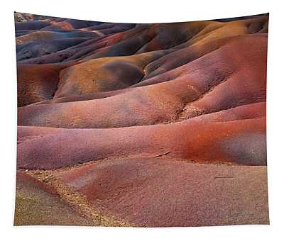 Seven Colored Earth In Chamarel 8. Series Earth Bodyscapes. Mauritius Tapestry
