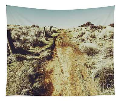 Shabby Outback Path Tapestry