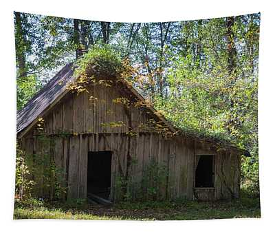 Shack In The Woods Tapestry