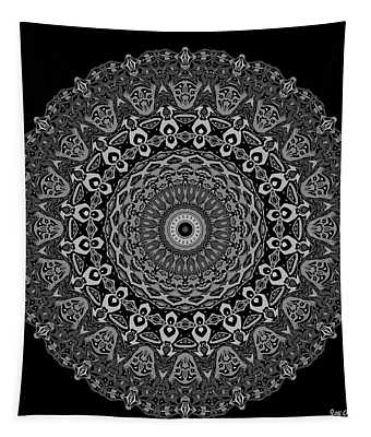 Tapestry featuring the digital art Shades Of Gray No. 6 by Joy McKenzie