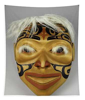 Shaman's Mask Tapestry