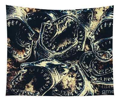 Shark Jaws Tapestry