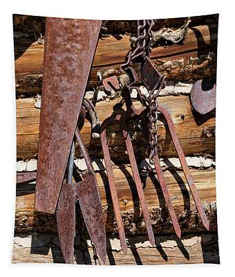 Sharp Rusty Objects Tapestry