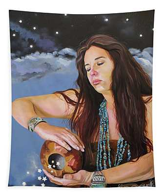 She Paints With Stars Tapestry