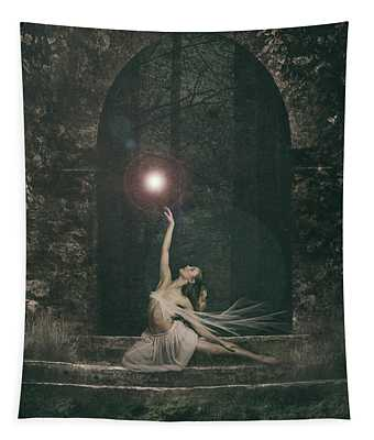 She Sat A While And Watched The Fairy Dance Tapestry
