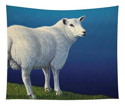 Sheep At The Edge Tapestry