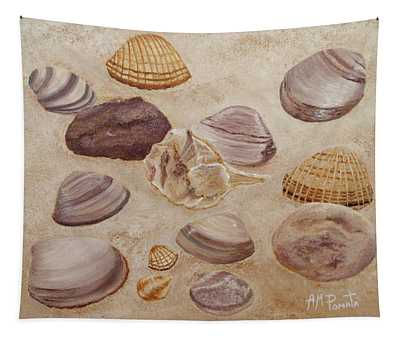 Shells And Stones Tapestry