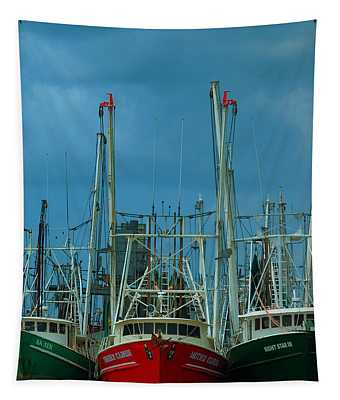 Shrimpers Tapestry