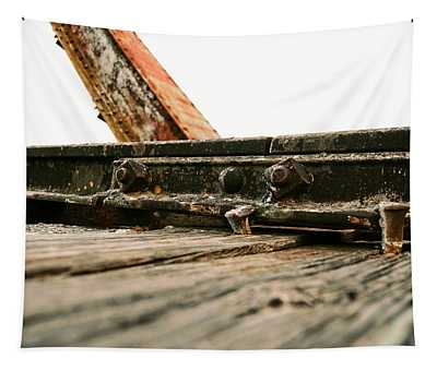 Side Of Rail #photography #trains Tapestry